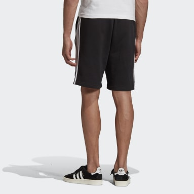 Herr Originals Svart 3-Stripes Shorts