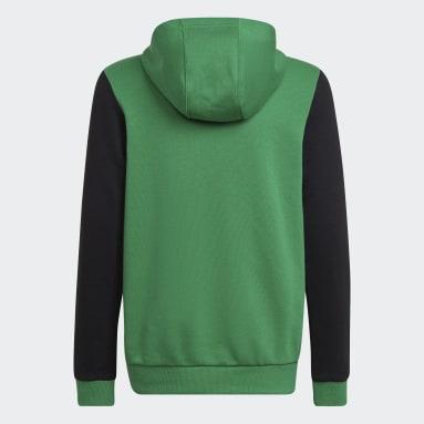 Sudadera con capucha Logo Verde Niño Gimnasio Y Entrenamiento