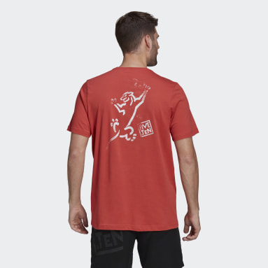 Men's Five Ten Red Five Ten Stealth Cat Graphic Tee