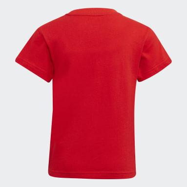 Kinderen Originals Rood Adicolor Trefoil T-shirt