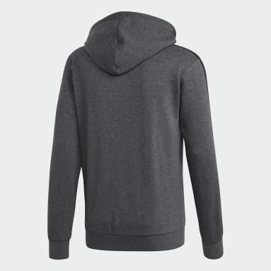 Chaqueta con capucha Essentials Fleece 3 bandas Gris Hombre Sportswear