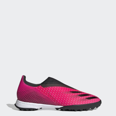 Football Pink X Ghosted.3 Laceless Turf Boots