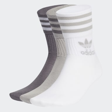 Originals Grey Mid Cut Crew Socks 3 Pairs