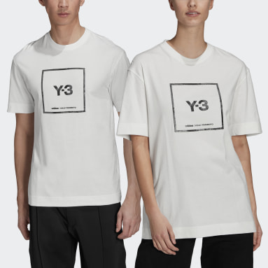 Y-3 White Y-3 Reflective Square Logo Short Sleeve Tee