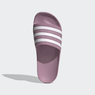 Women's Yoga Pink Adilette Aqua Slides