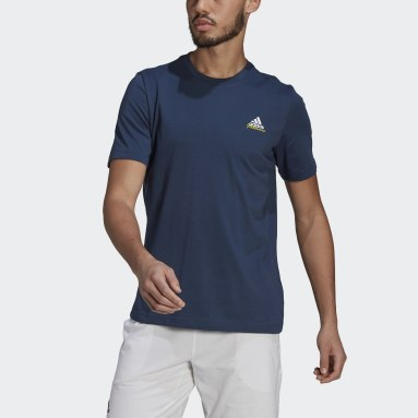 Men's Tennis Blue Tennis Graphic Melbourne Tee