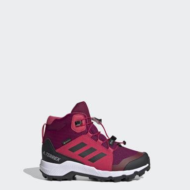 Children TERREX Burgundy Terrex Mid GORE-TEX Hiking Shoes
