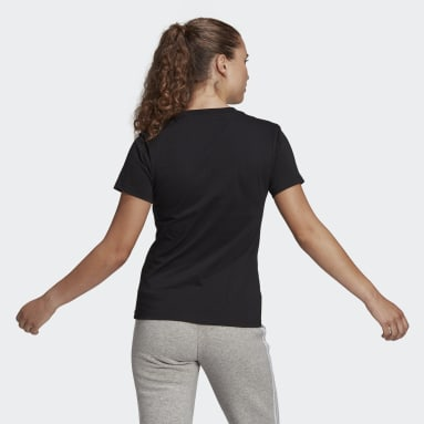 Women Sport Inspired Black LOUNGEWEAR Essentials Logo Tee