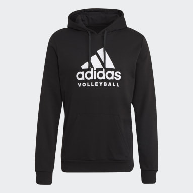 Volleyball Black Volleyball Graphic Hoodie