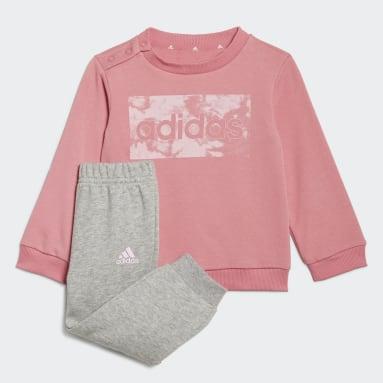 Kids Sportswear Pink adidas Essentials Sweatshirt and Pants