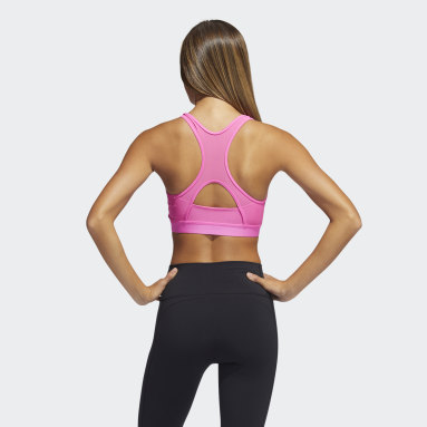 Women Training Believe This 3-Stripes Rib Bra