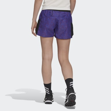 Dames TERREX Paars Terrex Primeblue Trail Graphic Short