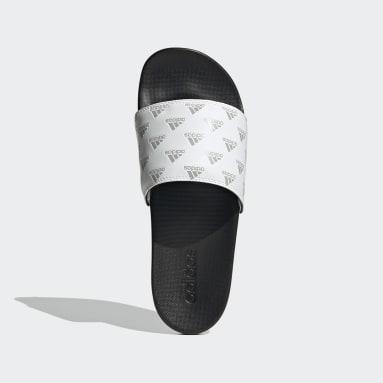 adilette Comfort Slides Bialy