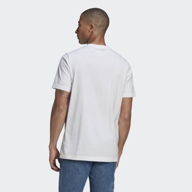 Men's Originals White LOUNGEWEAR Adicolor Essentials Trefoil Tee