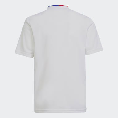 Youth 8-16 Years Football White Olympique Lyonnais 21/22 Home Jersey