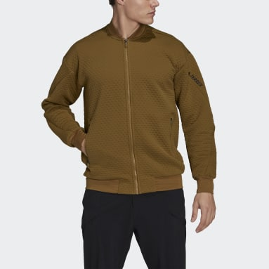 Men TERREX Brown Terrex Hike Fleece Jacket