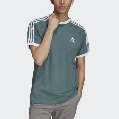 Men Originals Green Adicolor Classics 3-Stripes Tee