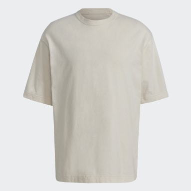 Men Y-3 Beige Y-3 CH3 Raw Jersey Graphic Short Sleeve Floral Tee