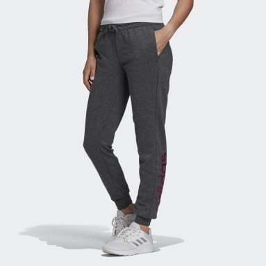 Women Lifestyle Grey Essentials Linear Pants