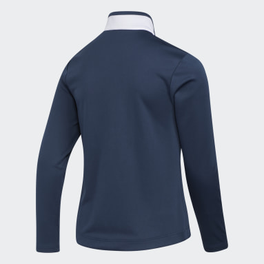 Girls Golf Blue Girls' Colorblock Pullover