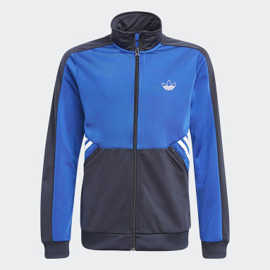 Kids Originals Blue adidas SPRT Collection Track Jacket