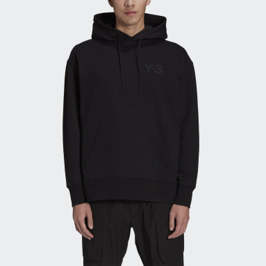 Men Y-3 Black Y-3 Classic Chest Logo Hoodie