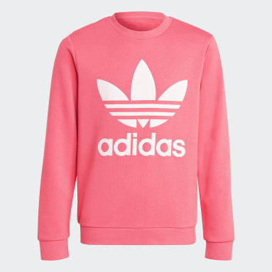 Sweatshirt Trefoil Rosa Criança Originals