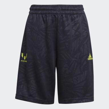 Youth 8-16 Years Gym & Training Blue Messi Football-Inspired Shorts