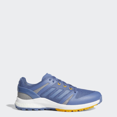 Men Golf Blue EQT Spikeless Wide Golf Shoes