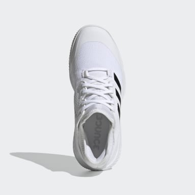 Women Gym & Training White Court Team Bounce Indoor Shoes