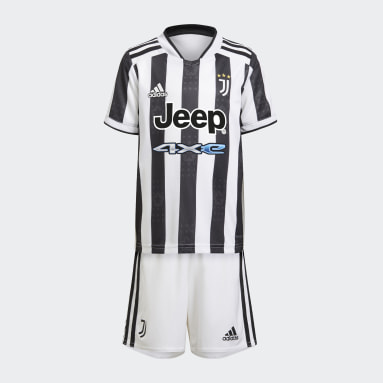Kinderen Voetbal Wit Juventus 21/22 Mini Thuistenue