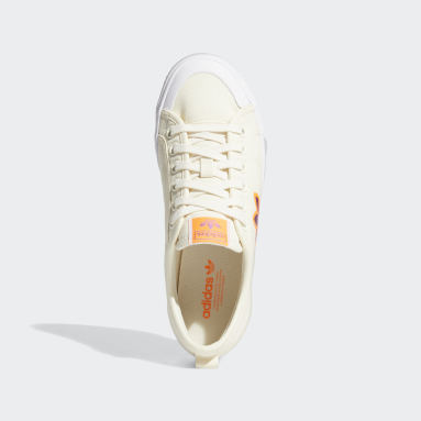 Women Originals White Nizza Trefoil Shoes