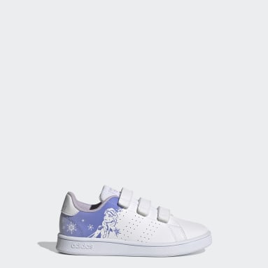 Kids Sport Inspired White Advantage Shoes