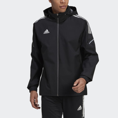 Men Soccer Black Condivo 21 All-Weather Jacket
