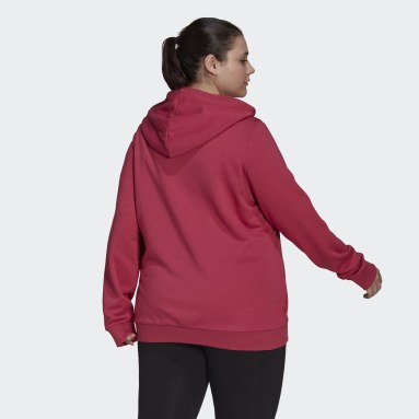 Women Sportswear Pink Essentials Logo Full-Zip Hoodie (Plus Size)
