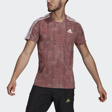 T-shirt adidas Own The Run Primeblue Rouge Hommes Running
