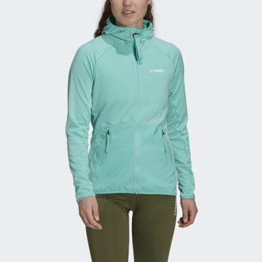 Giacca da hiking Terrex Tech Fleece Lite Hooded Verde Donna TERREX