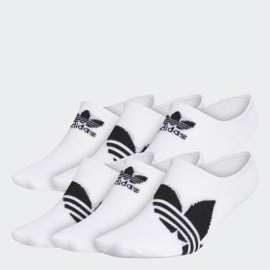 Men's Originals White Trefoil Superlite Super-No-Show Socks 6 Pairs
