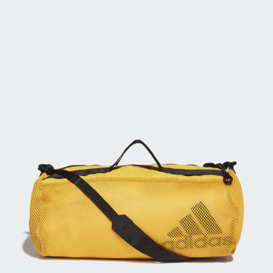 Women Training Yellow Sports Mesh Duffel Bag