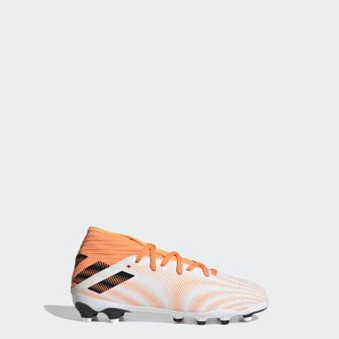 Barn Fotboll Vit Nemeziz.3 Mixed Ground Boots