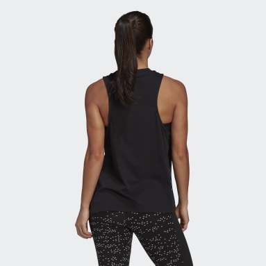 Women Sportswear Black Oversize Tank Top