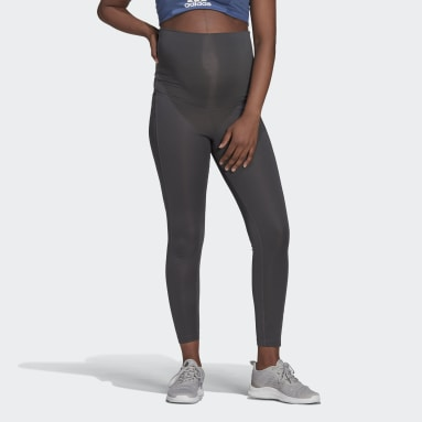Women Training Grey Designed To Move 7/8 Sport Tights (Maternity)