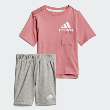 Kinder Fitness & Training Badge of Sport Sommer-Set Rosa