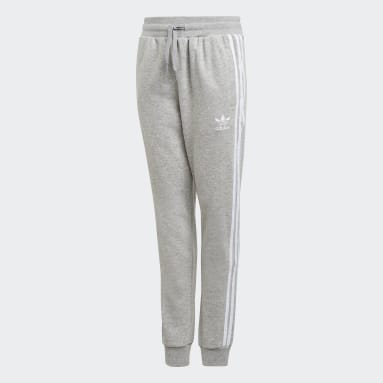 Kids Originals Grey 3-Stripes Pants