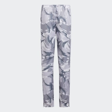 Youth Training White Action Camo Pants