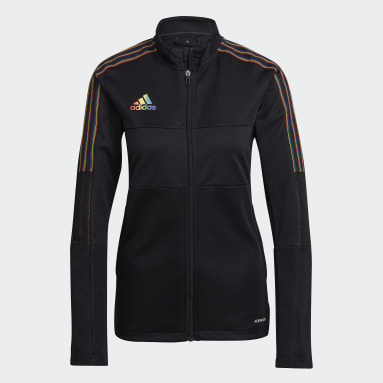 Women Football Black Tiro Pride Track Jacket