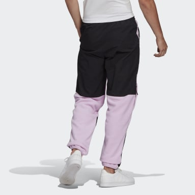 Heren Originals Paars adidas Adventure Polar Fleece Colorblock Joggingbroek