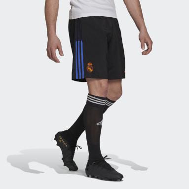 Herr Fotboll Svart Real Madrid Tiro Downtime Shorts