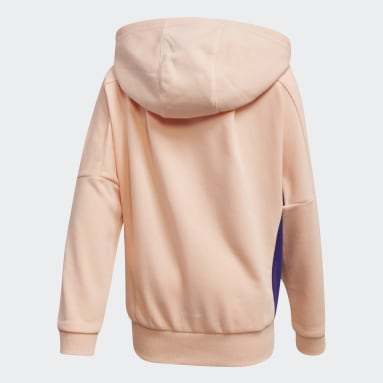 Girls Gym & Training Pink French Terry Knit Hoodie