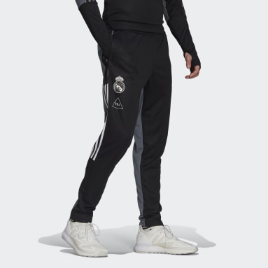 Men Football Black Real Madrid Human Race Training Pants